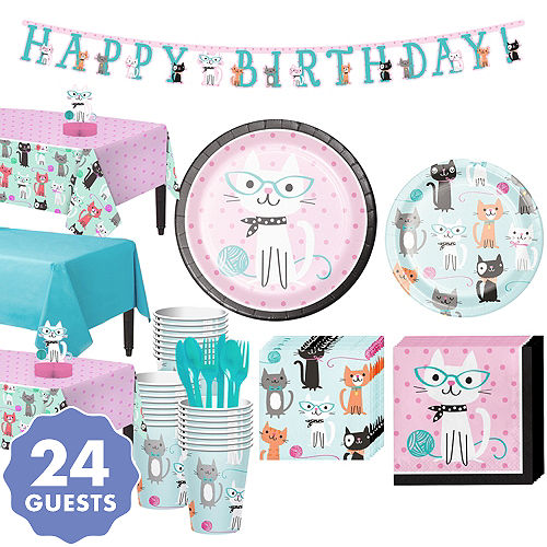 Purrfect Cat Party Supplies Cat Birthday Party Party City