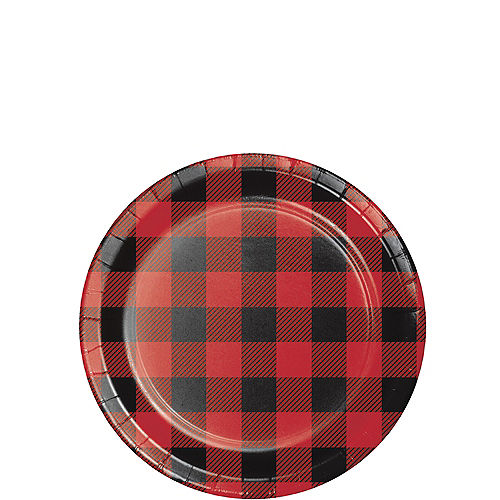 Buffalo Plaid Party Supplies Plaid Lumberjack Party Party City