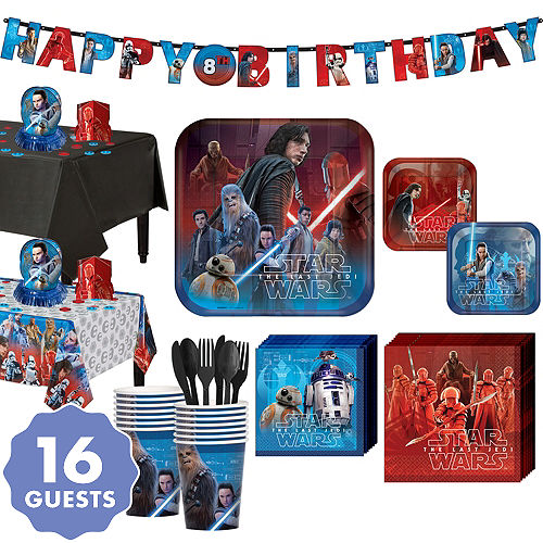 Star Wars 8 The Last Jedi Super Party Kit For 16 Guests