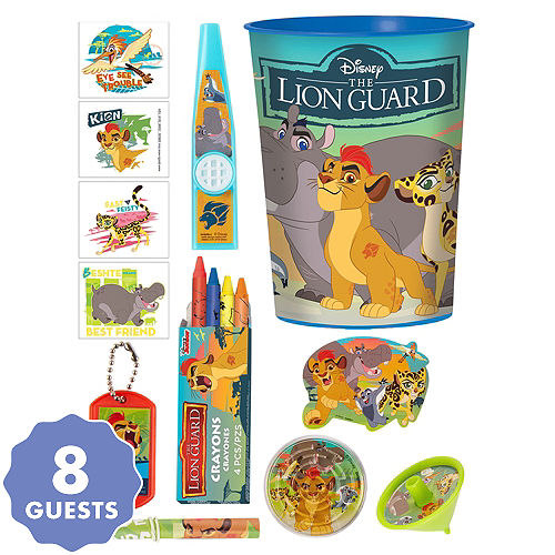 Lion guard party supplies lion guard birthday party party city lion guard super favor kit for 8 guests filmwisefo