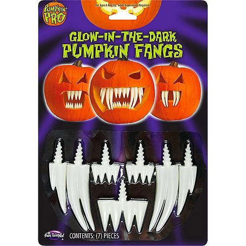 Glow In The Dark Pumpkin Fangs 7pc