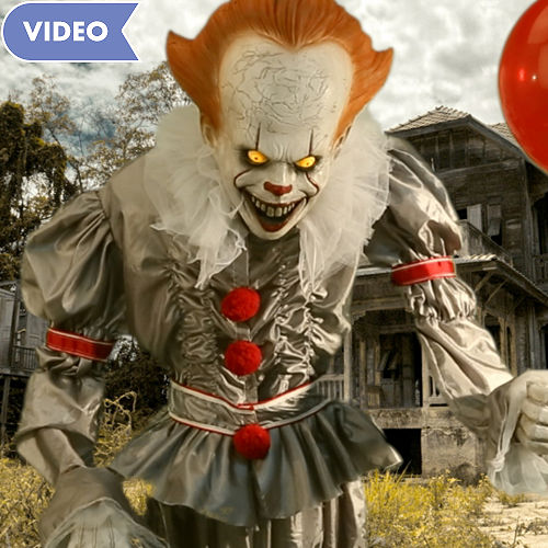 animated giant pennywise decoration it