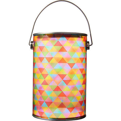 Small Rainbow Geometric Traingle Plastic Favor Paint Can