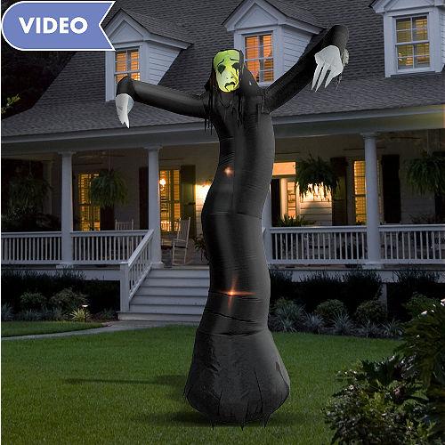 Home Birthday Yard Decorations Atlanta Light Up Inflatable Phantom