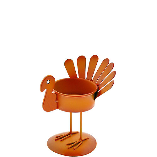 Orange Turkey Tealight Candle Holder