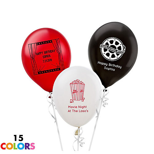Personalized Hollywood Latex Small Balloon