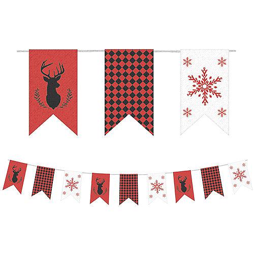 christmas burlap pennant banner