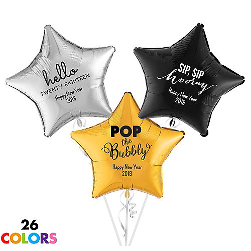 Personalized New Years Star Balloon