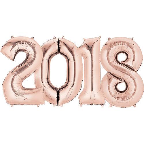 Giant Rose Gold 2018 Number Balloon Kit