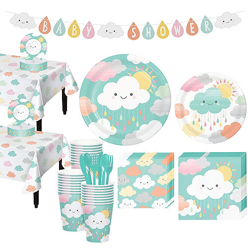 Happy Clouds Baby Shower Kit for 32 Guests
