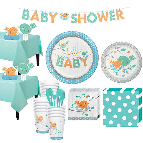 Hello Boy Baby Shower Kit for 32 Guests