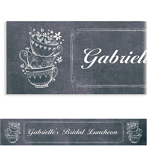 custom bridal tea party banner