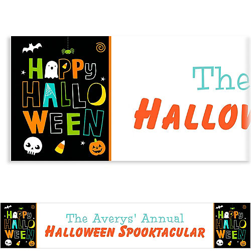 custom friendly halloween banner