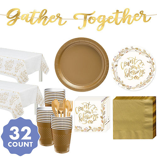 Always Be Thankful Party Kit For 32 Guests