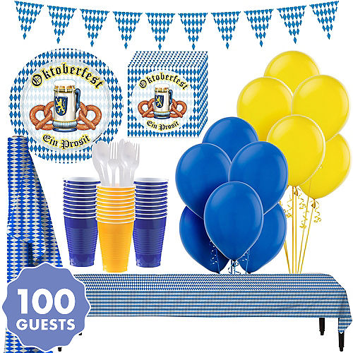 Oktoberfest Tableware Party Kit For 100 Guests