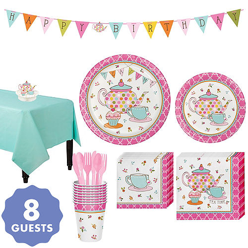 Tea Time Party Kit For 8 Guests