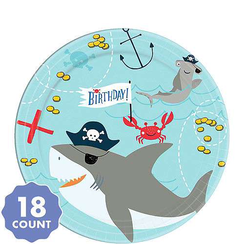 Shark Party Supplies - Shark Birthday Decorations | Party City