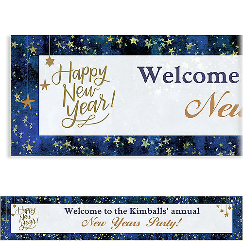 custom midnight new years eve banner
