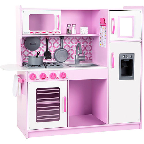 Melissa   Doug Wooden Chef s Kitchen With Ice Cube Dispenser 982a2103ba