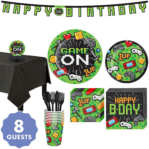 Video Game Party Kit For 8 Guests