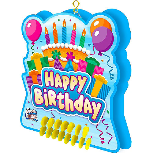 f7a5a3a50 In-Store Pickup · Goodie Gusher Blue Birthday Cake Pinata