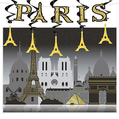 fa8d3b680eb Black   Gold Paris Decorating Kit