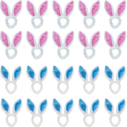 468ff87fca47 His & Hers Plush Easter Bunny Ears Kit for 24 Guests