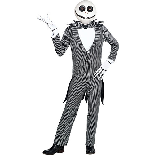 Adult Pinstripe Jack Skellington Costume - The Nightmare Before Christmas