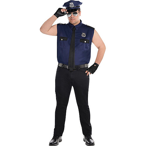 Adult Under Arrest Cop Costume Plus Size