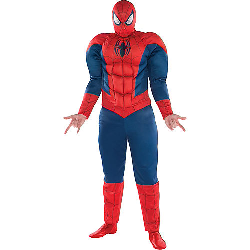Adult Spider-Man Muscle Costume Plus Size - Classic Spider-Man