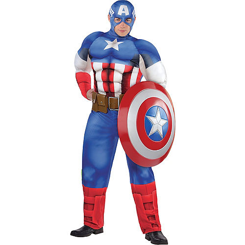 Adult Captain America Muscle Costume Plus Size