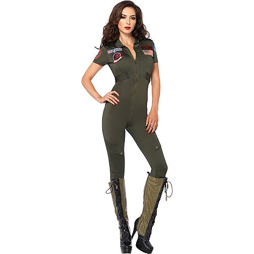 Adult Sexy Flight Suit Costume - Top Gun