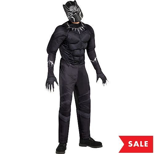 Adult Black Panther Muscle Costume - Black Panther