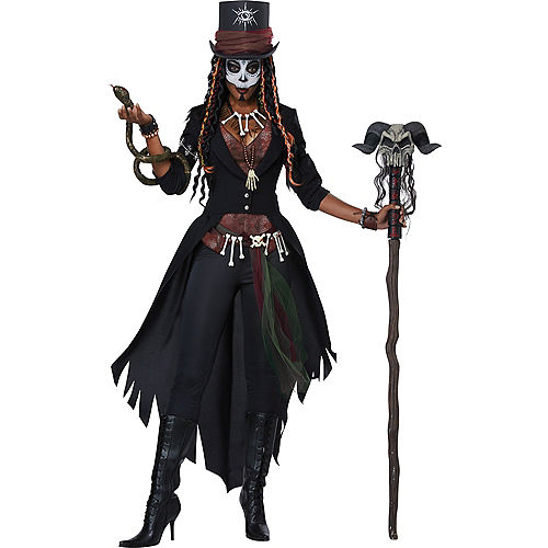 Womens Voodoo Magic Witch Doctor Costume