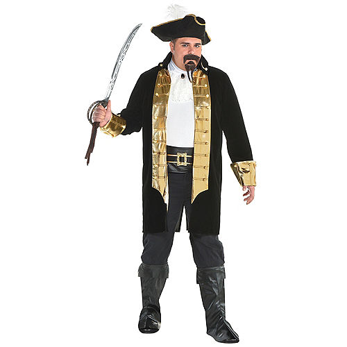 Mens Treasure Captain Pirate Costume Plus Size