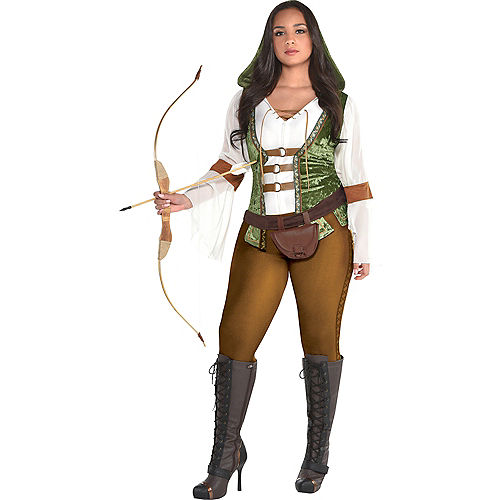 Womens Robin Hood Huntress Costume Plus Size