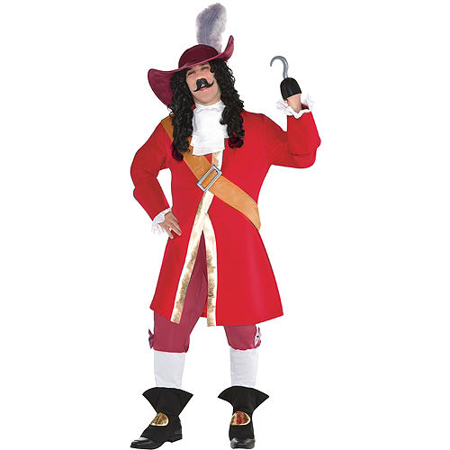 Mens Captain Hook Costume Plus Size - Peter Pan