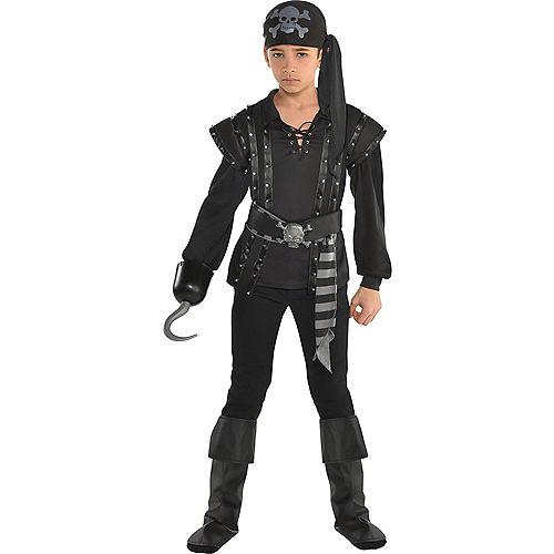 Pirate costumes party city boys black pirate costume solutioingenieria Gallery