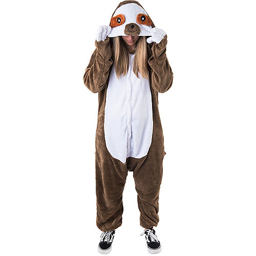 Adult Zipster Sloth One Piece Costume