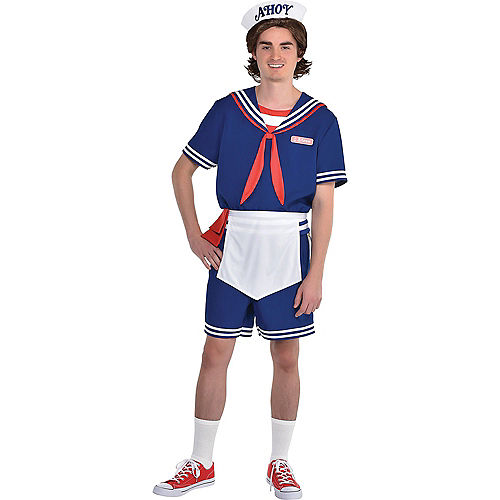 Adult Steve Scoops Ahoy Costume - Stranger Things