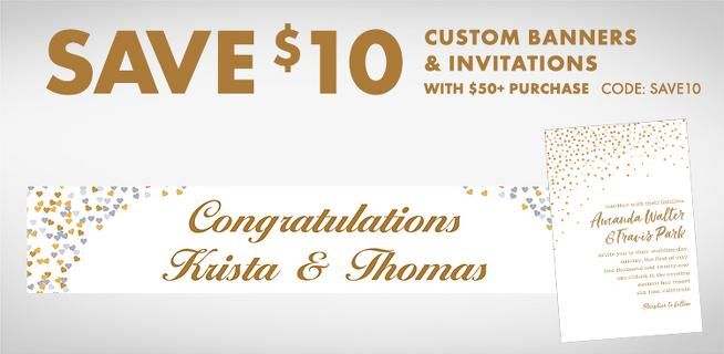 Custom Wedding Invitations & Banners