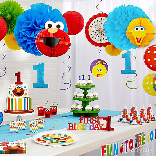 Elmo First Birthday Decorations Idea