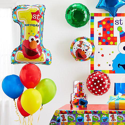 Elmo One Balloon Idea
