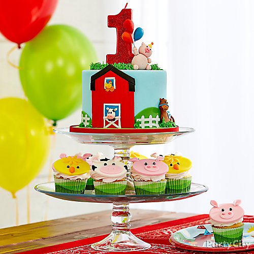 Farm Fun First Birthday Smash Cake Idea