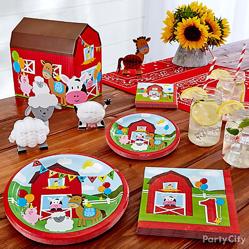 Farm Fun First Birthday Theme Idea