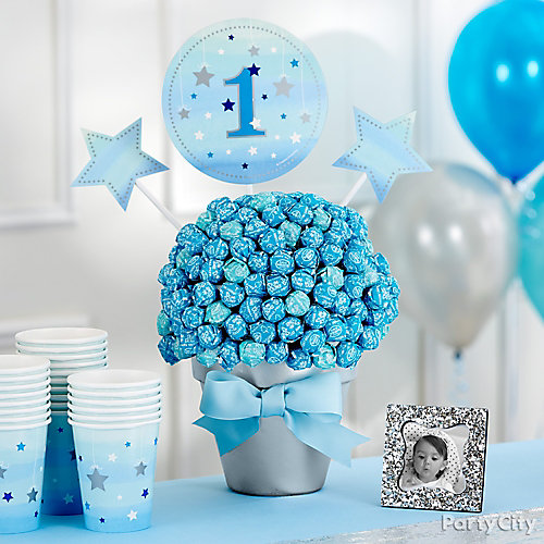 First Birthday Lollipop Centerpiece