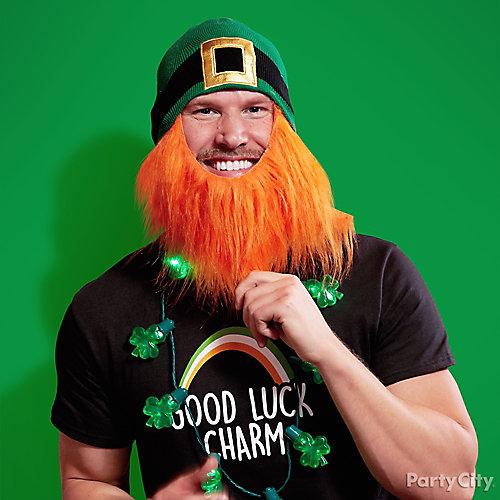 Funny St. Patricks Day Beard Idea