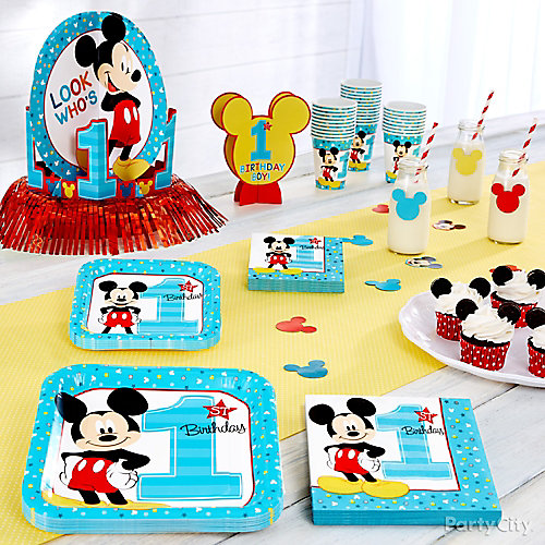 Mickey Mouse First Birthday Theme Idea  sc 1 st  Party City & Mickey Mouse First Birthday Theme Idea - First Birthday Party Ideas ...