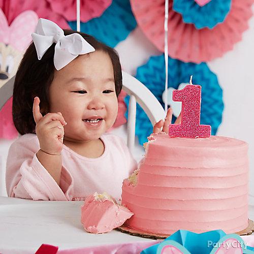 Minnie Party First Birthday Cake