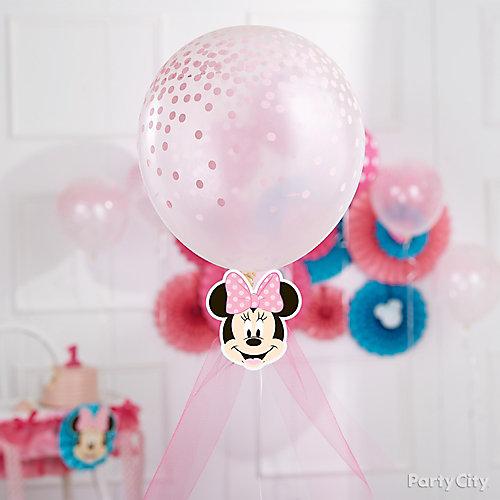 Minnie Tulle Balloon Decorating Idea